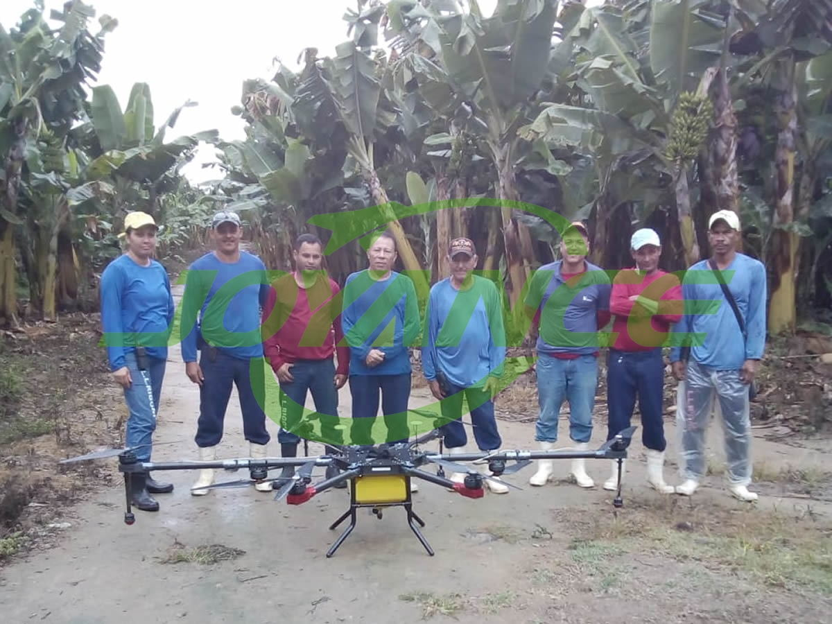 Brazilian customers spray banana with Joyance sprayer drones