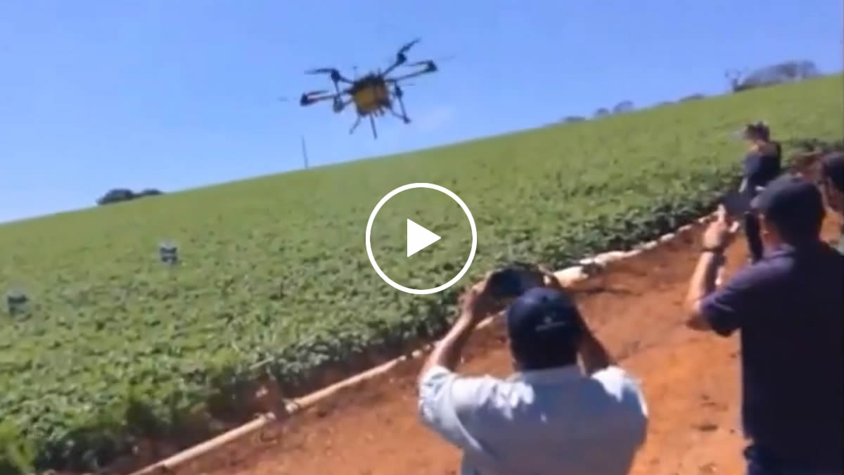 autonomous flight and terrain following drone abroad